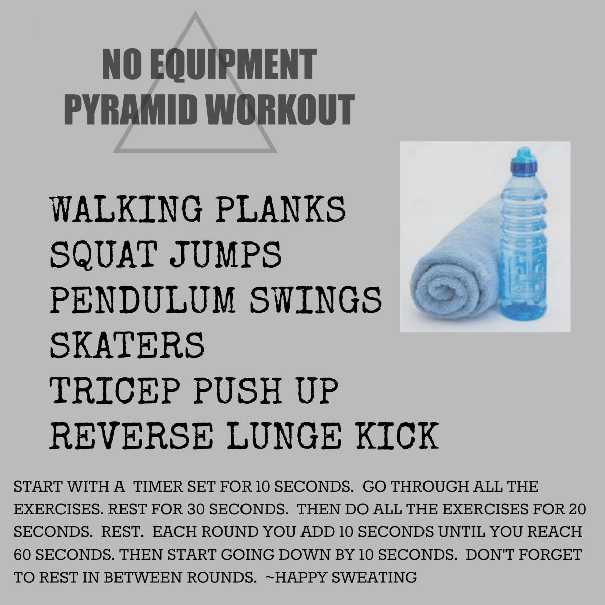 40 MINUTE PYRAMID WORKOUT