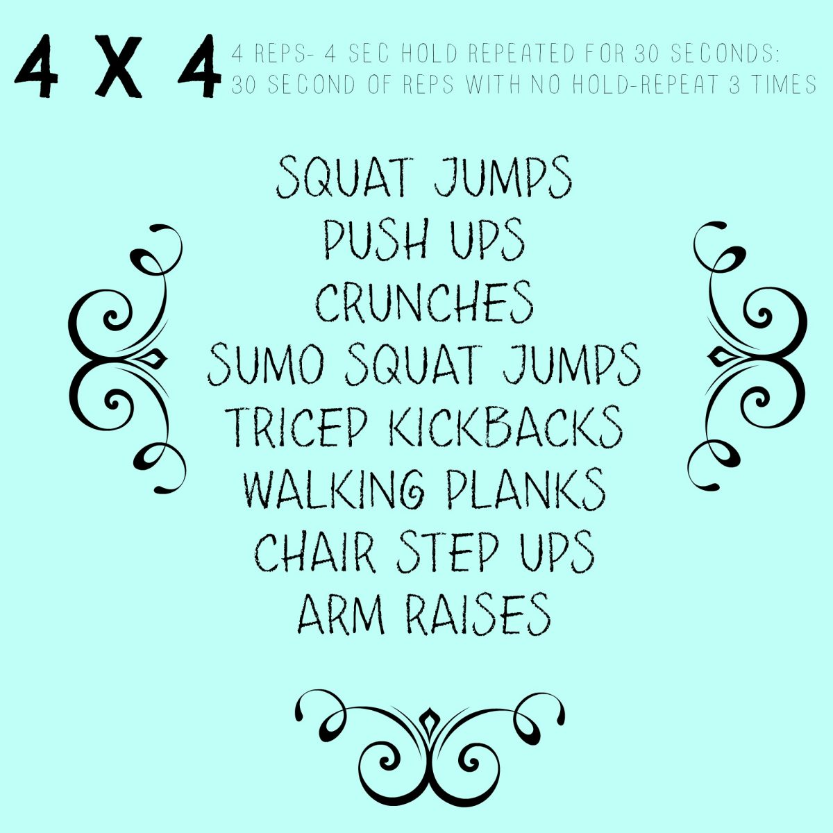4 x 4 30 Minute at Home Workout