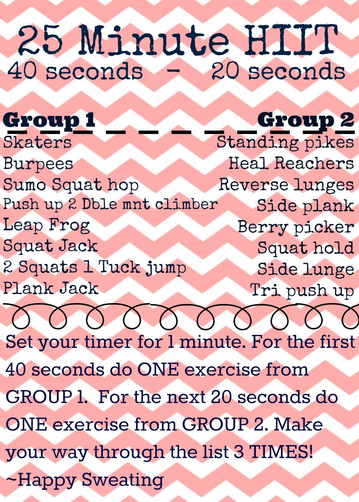 25 Minute No Equipment HIIT