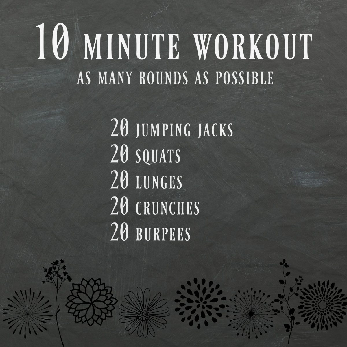 10 minute at home workout